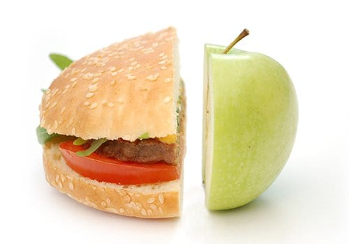 apple and hamburger diet nutrition