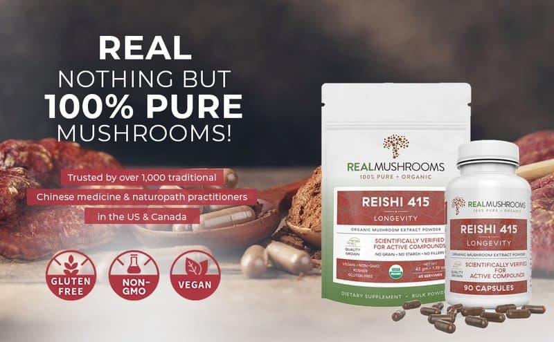 Real Mushrooms reishi supplement